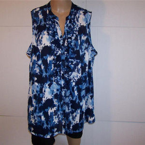 LANE BRYANT Shirt Blouse 24 Ruffled Button Front